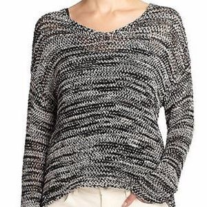 Eileen Fisher Space Dyed Cotton Tape Boxy Sweater
